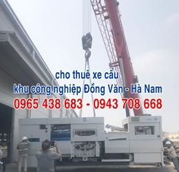 Cho thuê xe cẩu khu công nghiệp Đồng Văn Hà Nam
