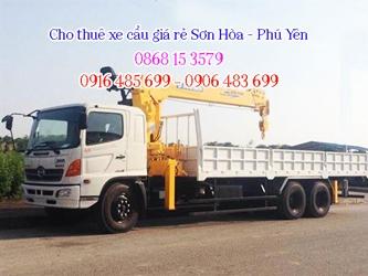 Thuê xe cẩu Sơn Hòa - Phú Yên gọi 0916.485.699