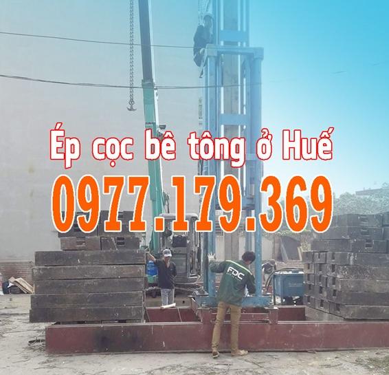 Ép cọc bê tông ở Huế - ép cọc bê tông Thừa Thiên Huế - Ép cọc bê tông công trình tại Huế