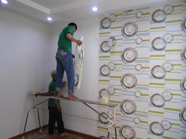 thi công giấy dán tường easup
